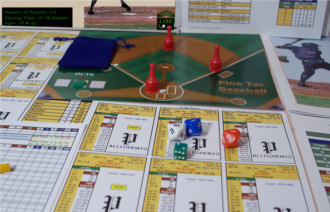 Pine Tar Baseball Components - This is what the 1884 game looks like, only the teams have different player names.