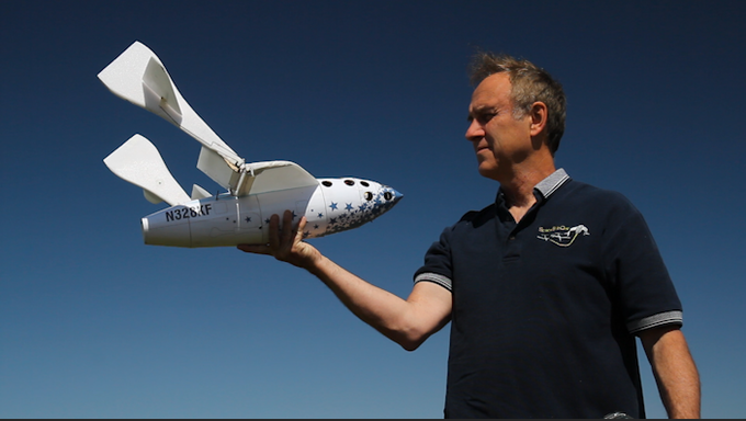 RC SpaceShipOne's innovative feathering