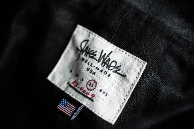 Hand numbered hemp/organic cotton (locally printed) label.