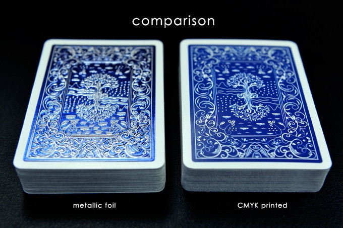 Difference between normal printed and MPC metallic technology card back