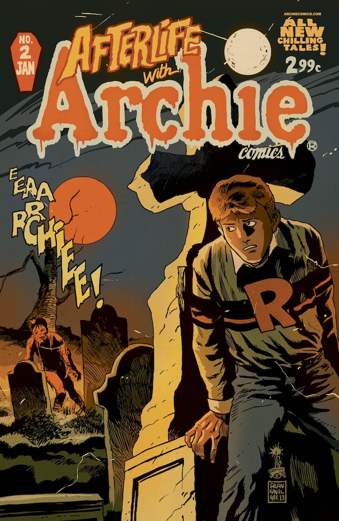 Francesco Francavilla's cover for Afterlife with Archie #2