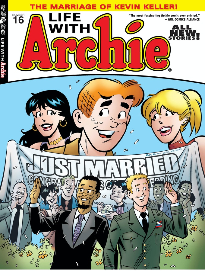 Fernando Ruiz's cover for Life with Archie #16, which featured the historic wedding of Kevin Keller.