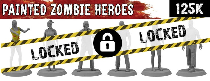 125K Stretch Goal - Add painted detail to our Zombie Hero miniatures