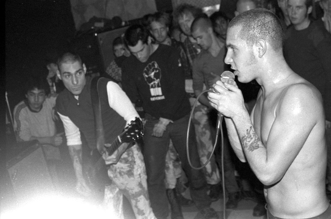 Roger Miret & Vinnie Stigma in 1984 - Photo by Jessica Bard