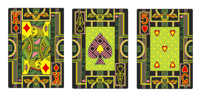 Sample of cards after they are cut and still join together.