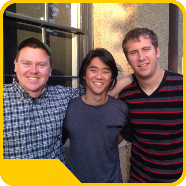 Sean, Tim, and Lucas: Outside the Stanford d.School