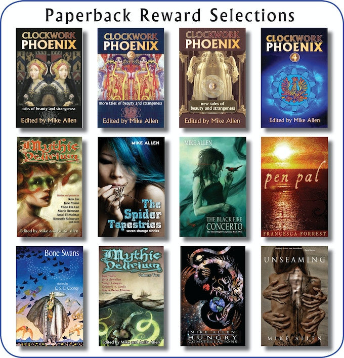 We have a number of trade paperback rewards to choose from.
