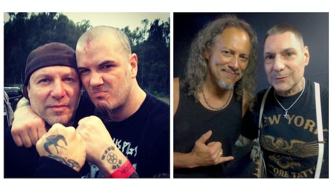Roger Miret w/ Phil Anselmo - Pantera & Kirk Hammet -Metallica w/ Vinnie Stigma