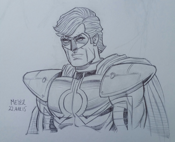 Sketch I did for a backer.