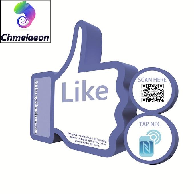 Facebook Sticker QR NFC