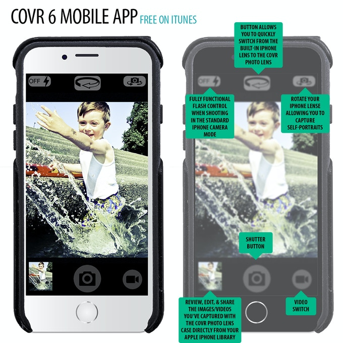 The free COVR Photo app offers key features so you never have to miss pictures/videos trying to switch from one photo app to another and all your COVR images/videos are saved to your iPhone Photo Library.