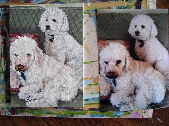 5x7 acrylic pet portrait