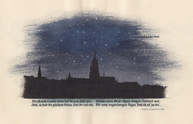 Christmas 1941 with a verse from Hans-Ulrich Röhl, from the second sketchbook.