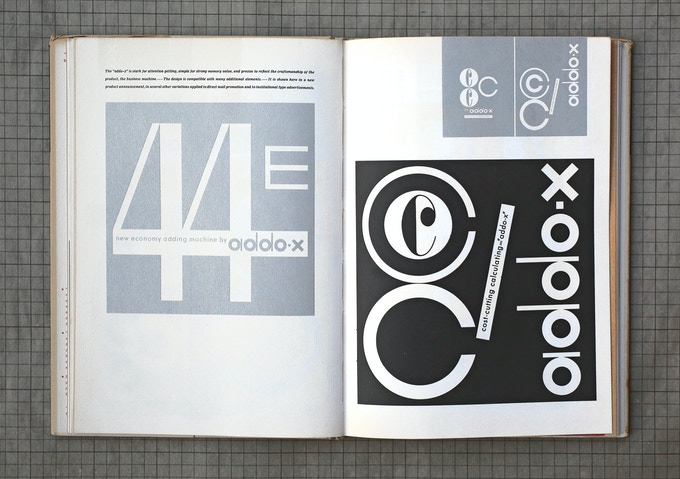 "Spread from original ""Ladislav Sutnar: Visual Design in Action"" (1961)"
