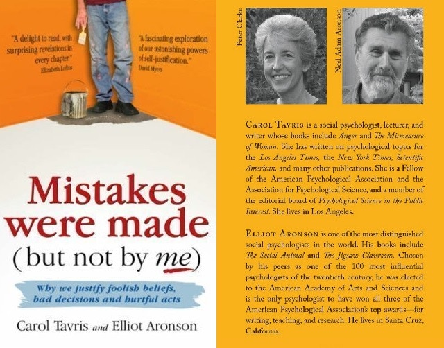 """The 2008 cover of """"Mistakes Were Made"""". You will receive the revised edition which will appear in Autumn 2015."""