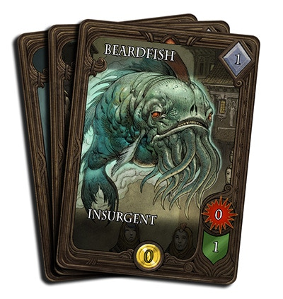 "Use the ""Fishmancer"" card to summon the irksome beardfish into your opponent's deck."