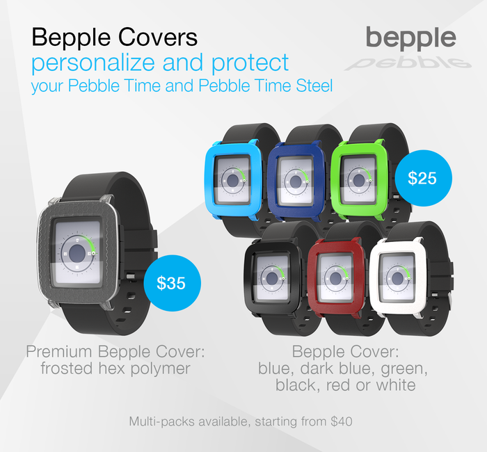 Precision crafted covers to personalize and protect your Pebble Time and Steel smartwatch