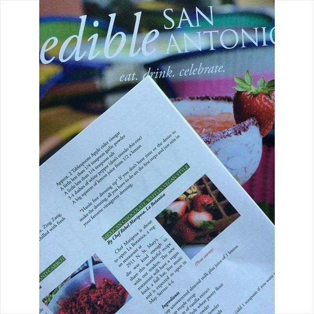 Chef Rebel's recipe in Edible San Antonio April 2015