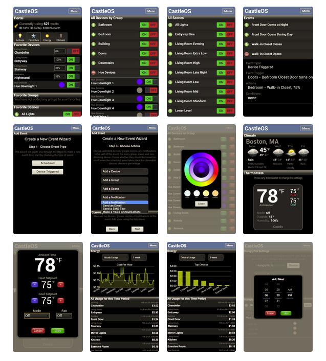 A Selection of CastleOS App Screenshots