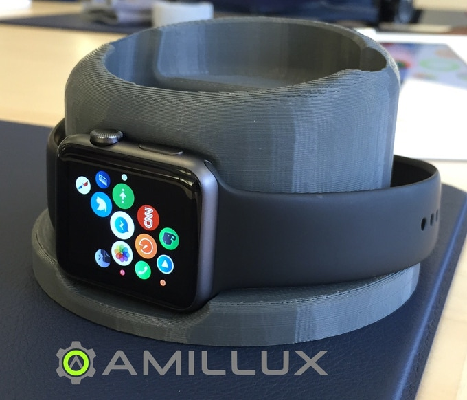 No reproductions at this stage. We tried on a space gray 42mm Apple Watch and we think it looks stunning even on our printed Unify Dock.