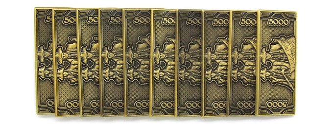 5000-Trade Bar (10-pack) - production samples shown