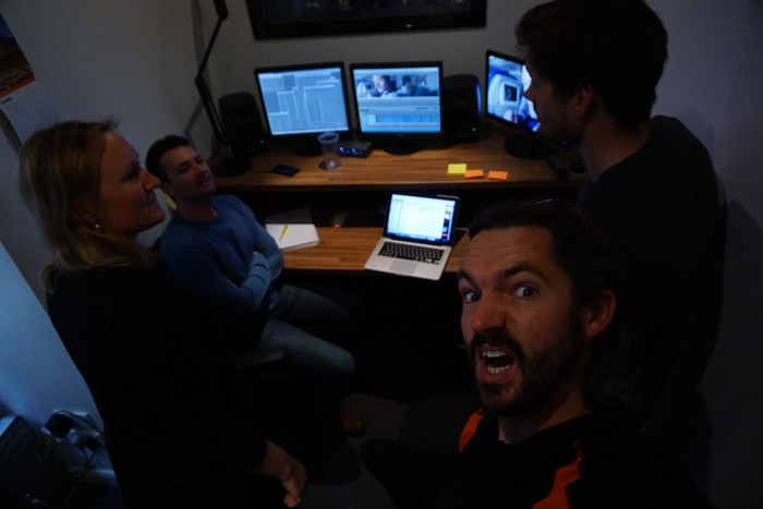 Inside the edit suite for the Patagonia film