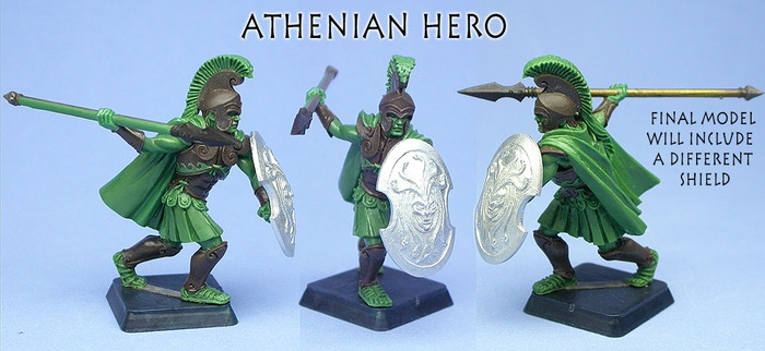 Athens Hero, multiple views
