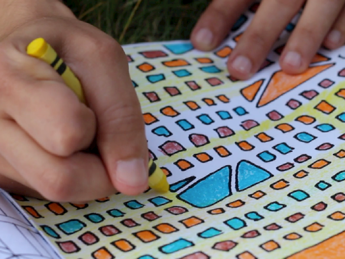 A coloring book full of abstract patterns to get the creative juices flowin'.