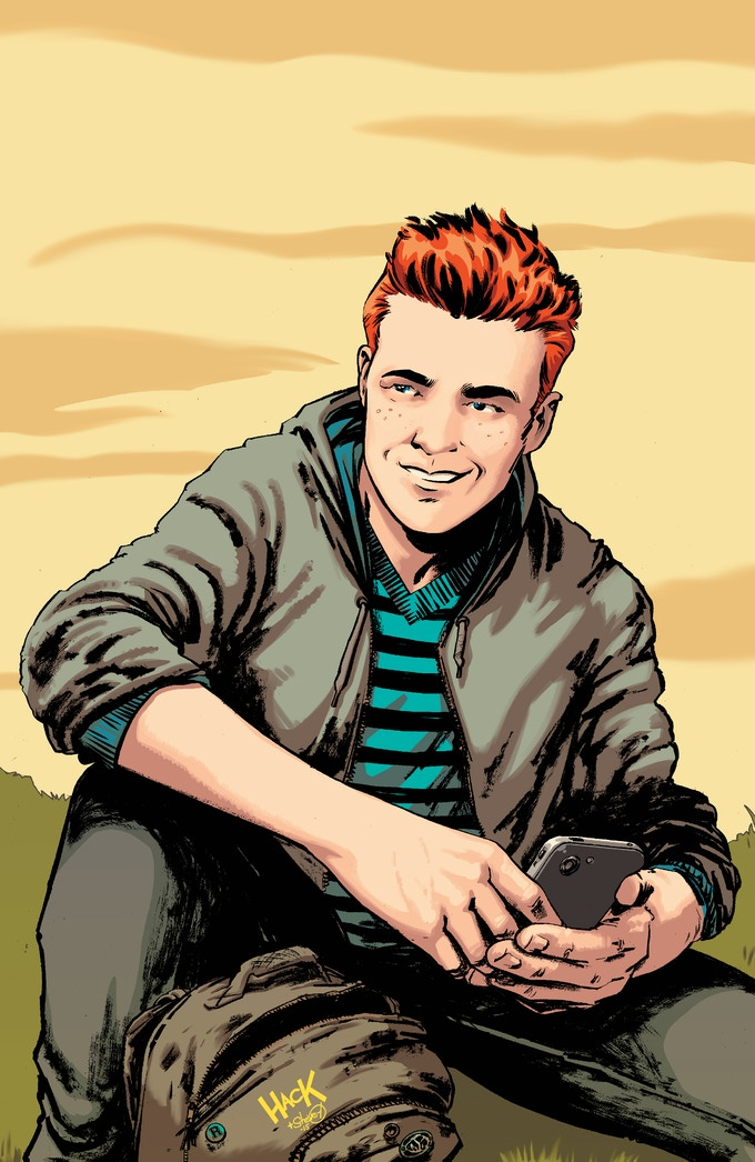 Robert Hack's variant cover for Archie #1