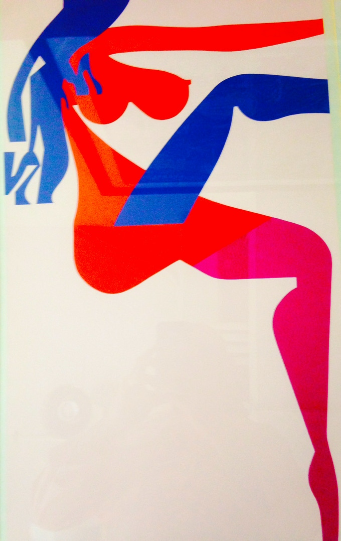 "Screenprint by Ladislav Sutnar from his 1963 series ""The Strip Street: Posters Without Words"""