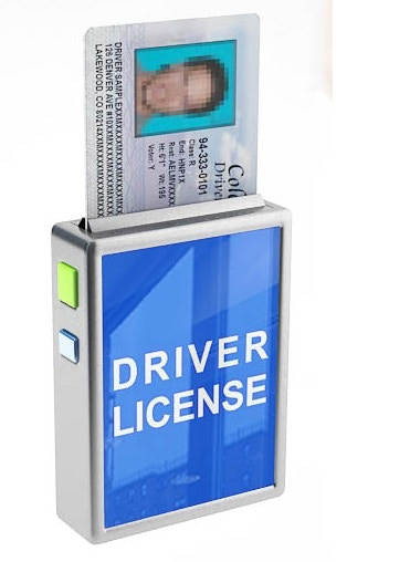 This Picture shows the driver's license being presented from the wallet after the owner selected retrieve!