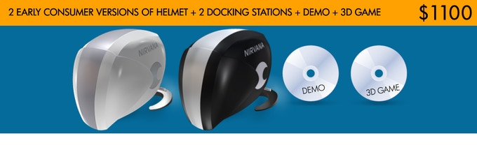 2 helmets and 2 docking stations for 1 pledge at $1100 only for Kickstarter backers. Save $100!