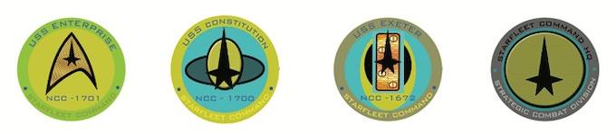 Starship Insignia Patches