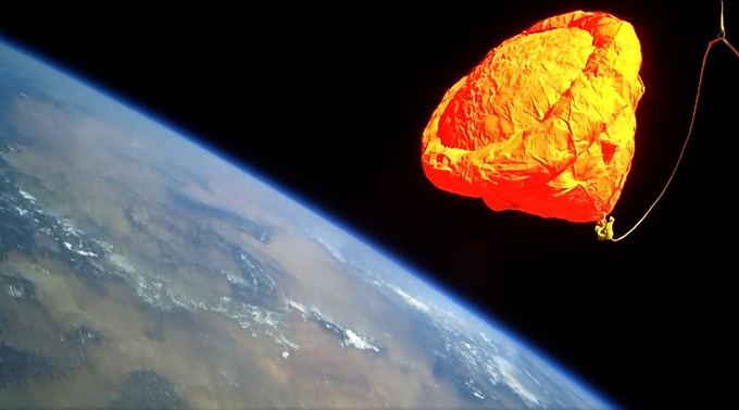 View from Space aboard a Sub-Orbital Flight