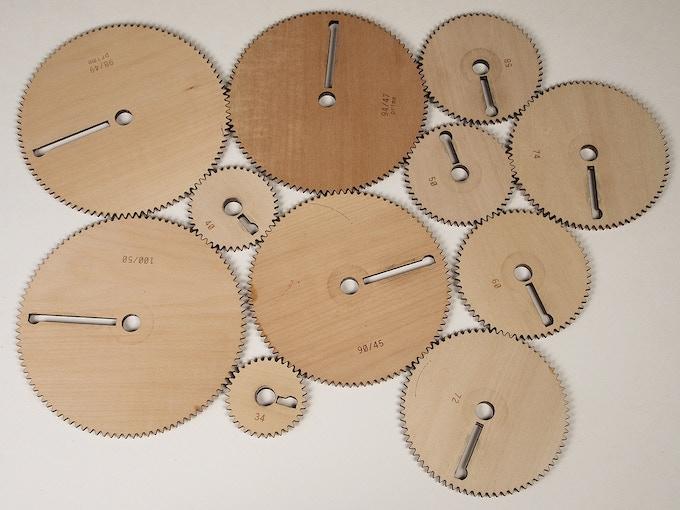 Lots of wooden gears