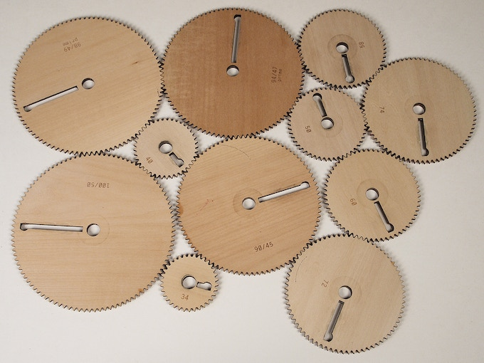 Lots of wooden gears