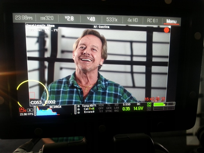 Roddy Piper interviewed at producer Willard Ford's Strong Sports Gym