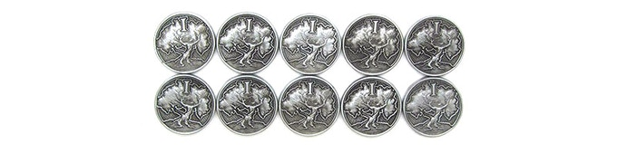 1-Silver coin (10-pack)