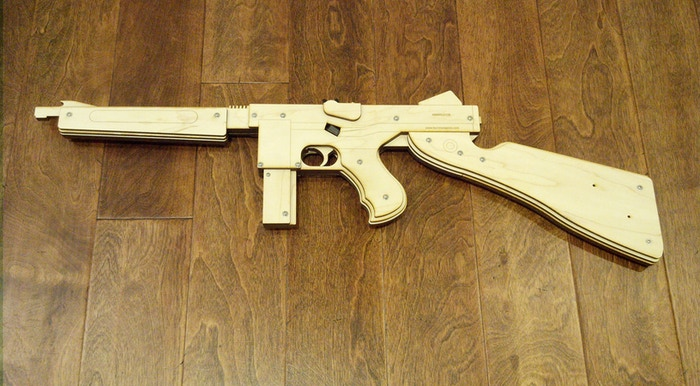 Burntweapons Laser Cut Rubber Band Guns By Thomas