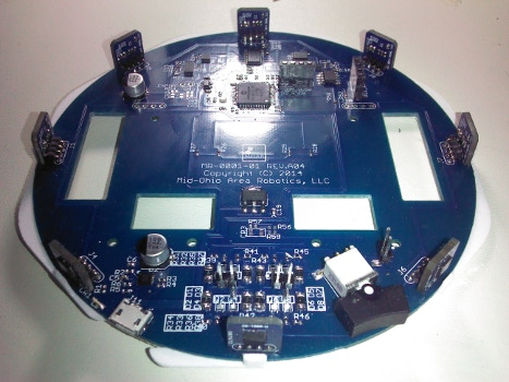 The Muribot Mainboard with IR Proximity/Ambient Light Sensors