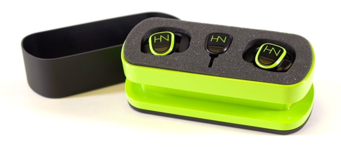 The HearNotes Solution includes: 2 Earbuds, 1 Transmitter, 1 Charging Pad & Carrying Case (*Includes Micro USB cord and Wall Adapter.)