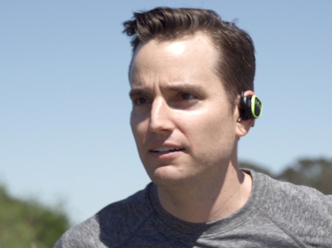 Run freely without wires and earbuds that won't fall out.