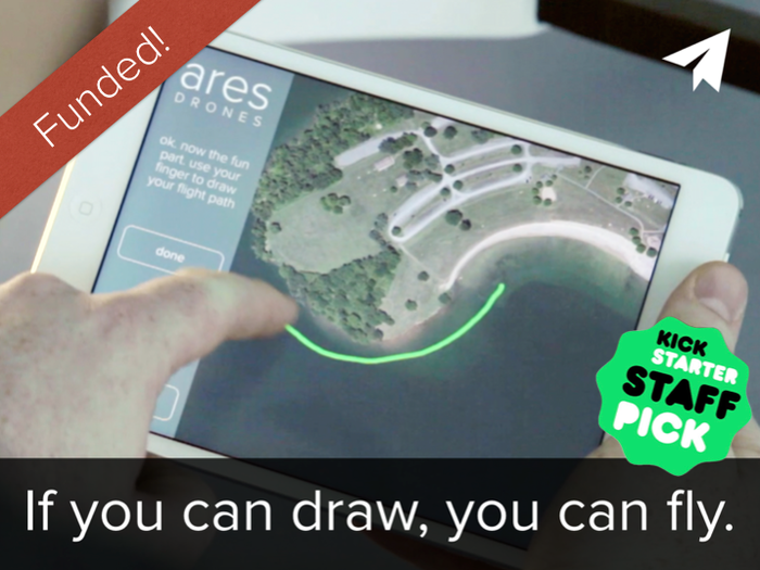 Capturing amazing aerial shots has never been easier. Just draw where you want to fly on your mobile device.