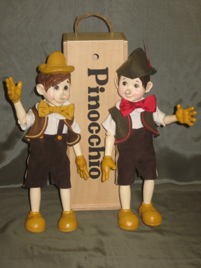 """Our two small """"Pinocchios"""""""