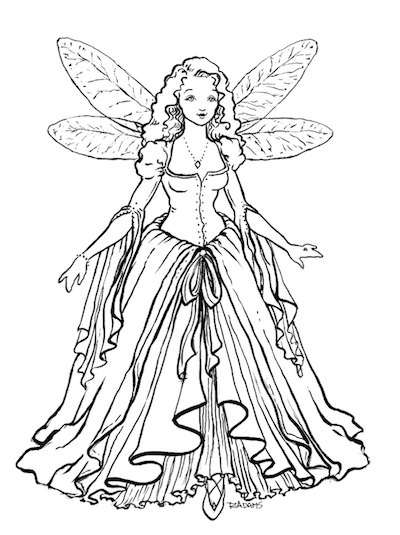 """Our 5 1/2"""" Blue Fairy only available through our Kickstarter project."""