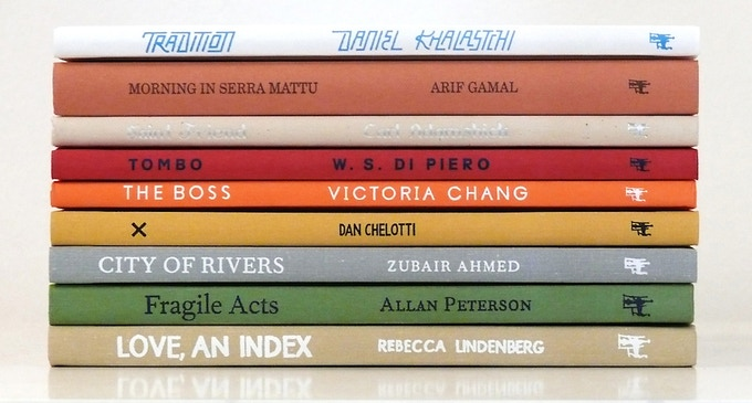 The first nine titles in the McSweeney's Poetry Series.
