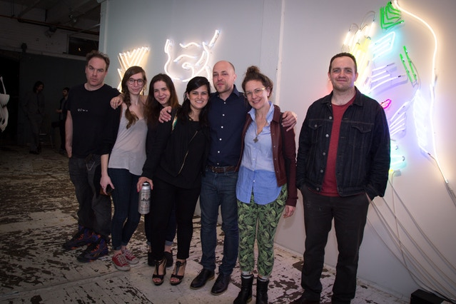 Mr Wheater and the Lite Brite crew, a neon makers in NYC