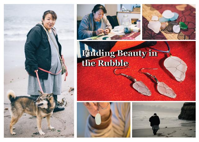 In Japan, a survivor of the tsunami turns beach debris into jewelry.