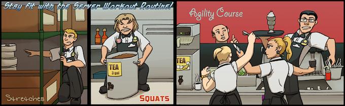 Strip #10: Server Workouts