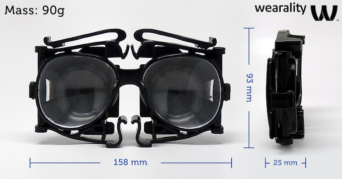 Folded Devkit(early adopter) with removable blinders